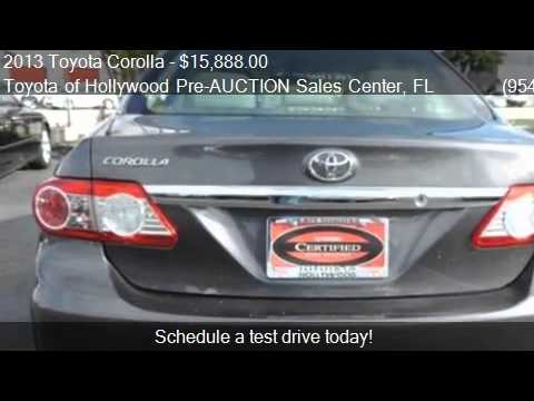 2017 Toyota Corolla For In Hollywood Fl 33021 At The