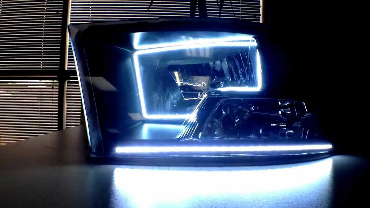 New Style Halo 2009 2012 Dodge Ram Oracle Square Rings By Advanced 1500 Headlights Automtoive Concepts Youtube