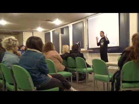 Earthling Ed Talk at Swansea University, December 2017