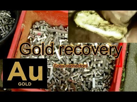 Solar powered gold recovery from coax plug connectors full process