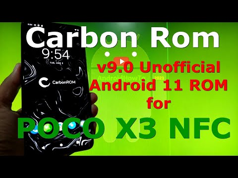 Carbon Rom v9.0 for Poco X3 NFC (Surya) Android 11