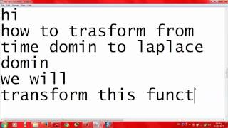 How to solve laplace transform by using Matlab