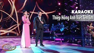 Karaoke | Thiệp Hồng Anh Viết Tên Em (Quang Lê & Băng Tâm)