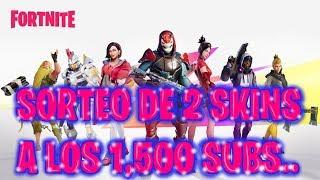 SWEEPSTAKE TO THE 1,500 SUBS OF 2 SKINS, FORTNITE - YOTA002