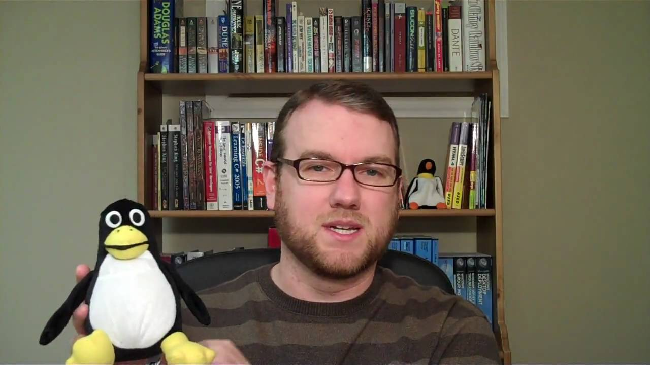 This Week In Linux Review 1 Stuffed Plush Tux Penguin From