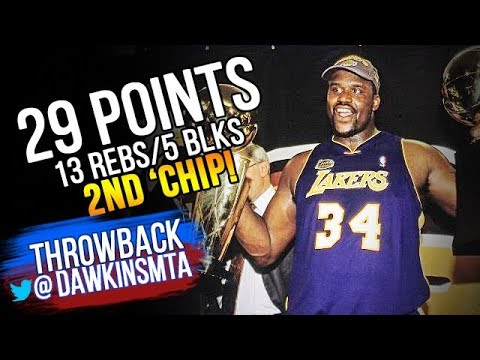 4d31ed1a900 Shaquille O'Neal Full Highlights 2001 Finals Game 5 at Sixers - 29 Pts, 13  Rebs, 5 Blks, TOO STRONG!