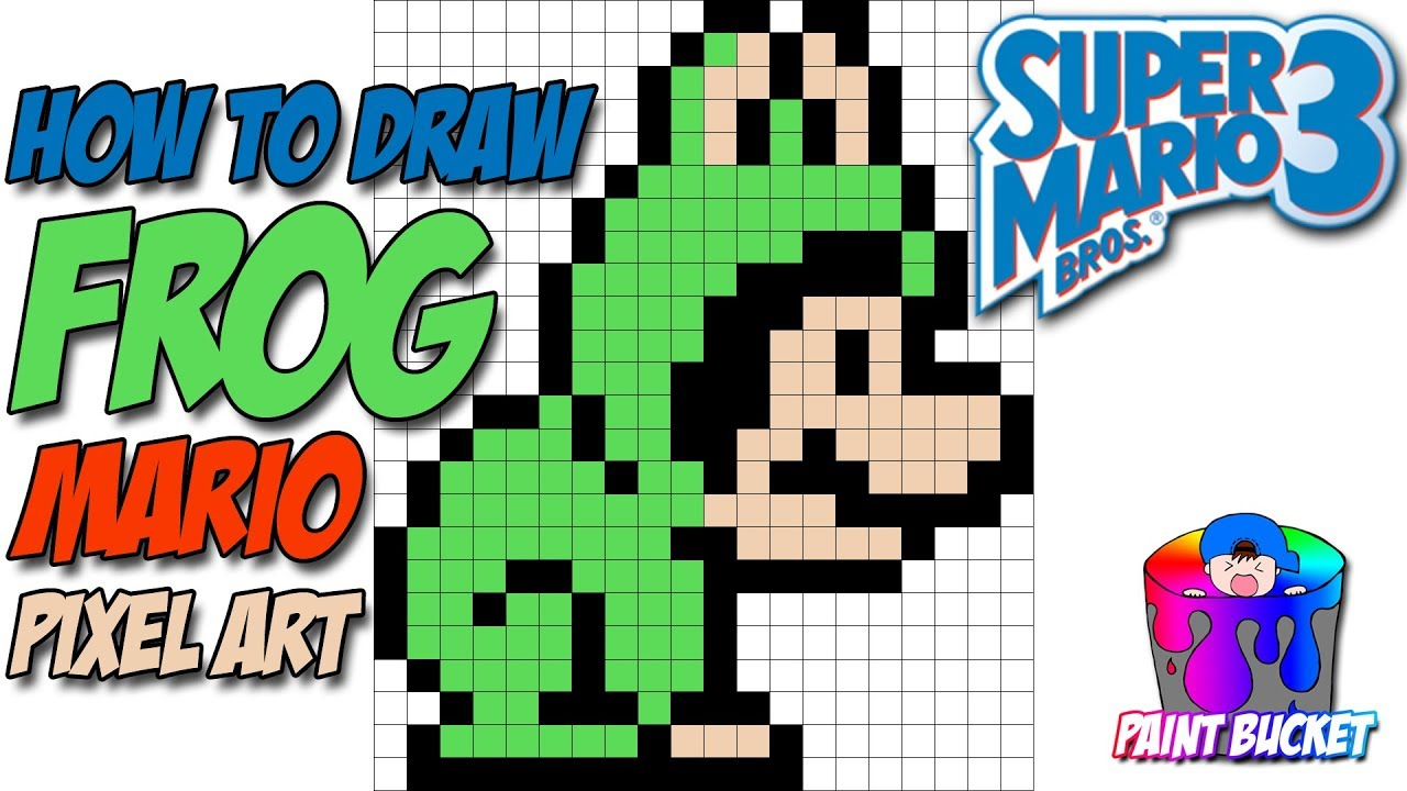 How To Draw Super Mario Bros 3 Frog Mario Smb3 Pixel Art