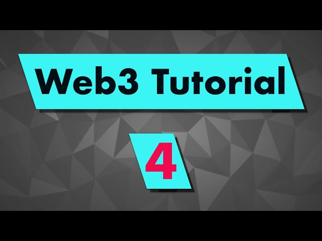 Web3 Tutorial: How to create a web3 contract instance?