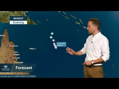Weather Update: tropical cyclone Owen in the Coral Sea, 3 December 2018 thumbnail