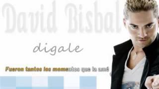 david bisbal - digale karaoke