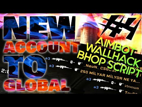 CS:GO Matchmaking - CHEATER: AIMBOT, WALLHACK, BHOP Script - New Account to Global #4