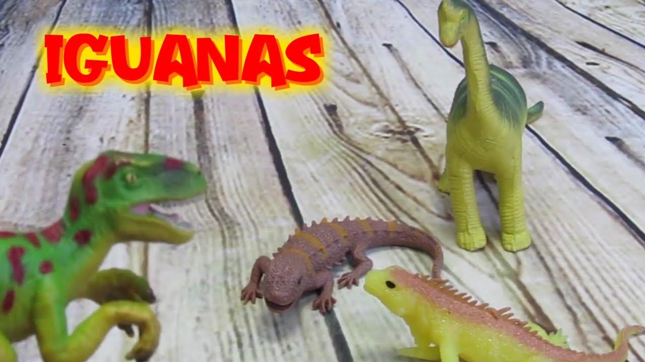 Dino perseguido por iguanas y cocodrilos | Vídeos de dinosaurios para niños