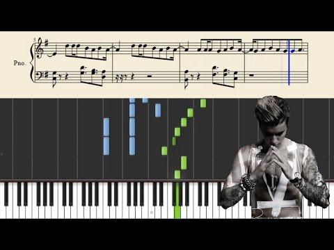 Justin Bieber - Purpose - Piano Tutorial + Sheets