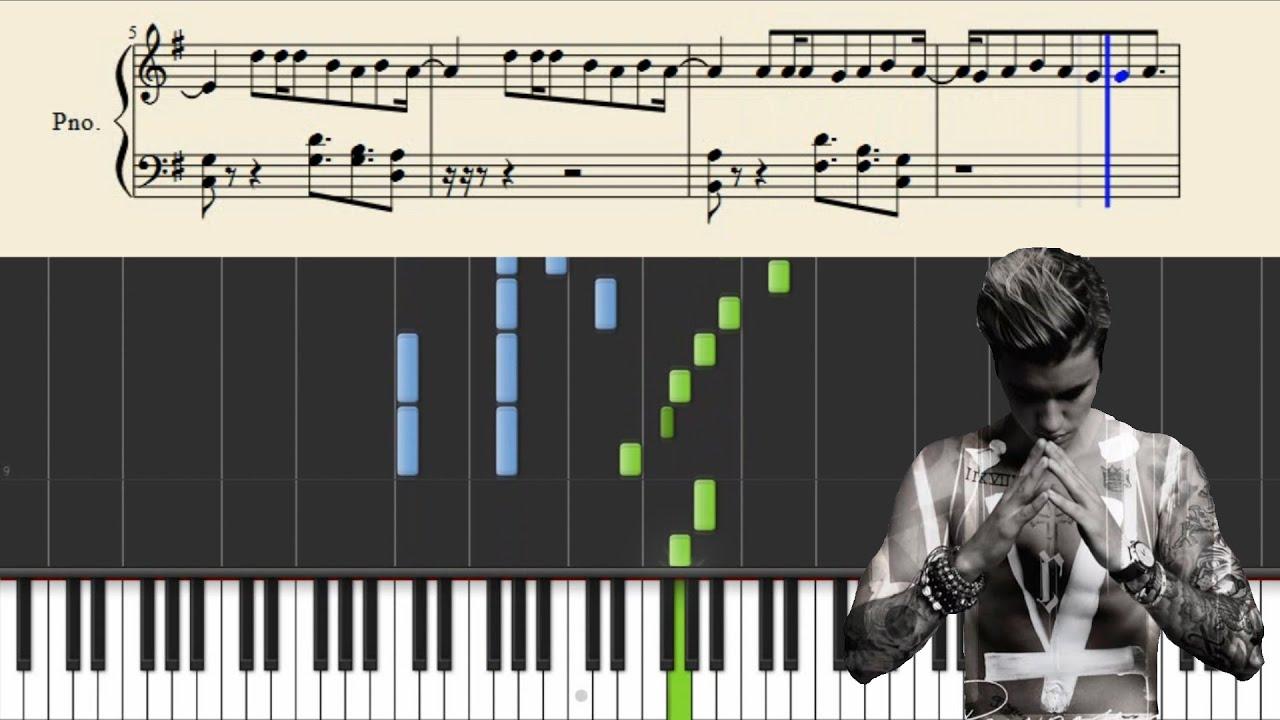 Download Justin Bieber - Purpose - Piano Tutorial + Sheets