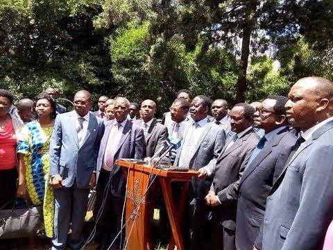 Raila Odinga speaks over the ouster of Senator Moses Wetangula from being Minority Leader