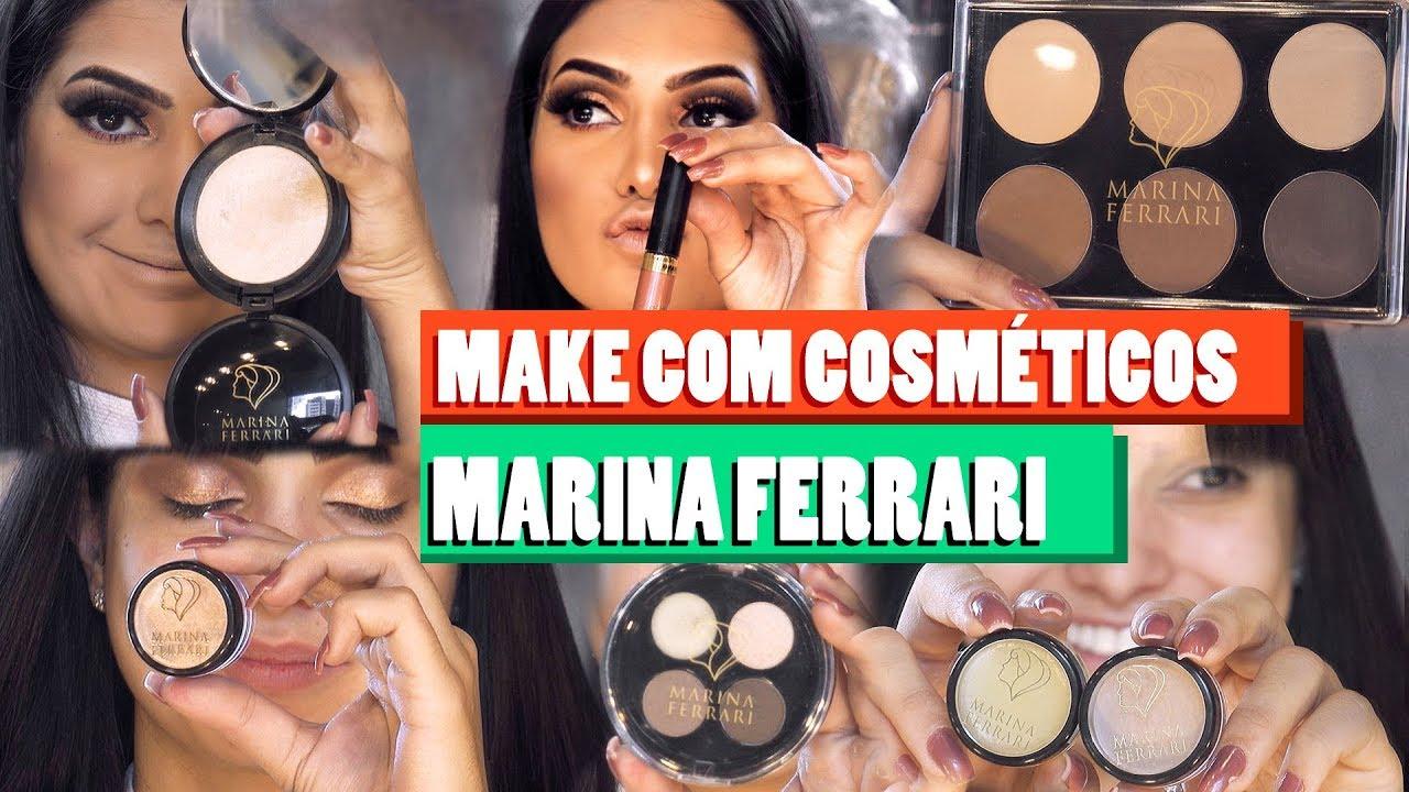 Make Com Cosméticos Marina Ferrari Youtube