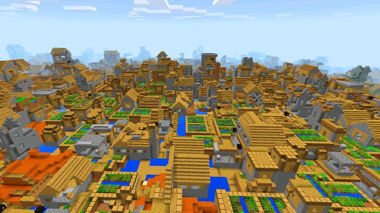 INSANE VILLAGE SEED in Minecraft Pocket Edition (Crazy Village Mod)