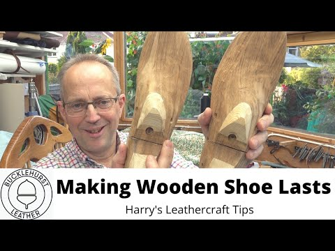 Making Wooden Shoe Lasts, Shoe Forms, By Hand, For Shoemaking.