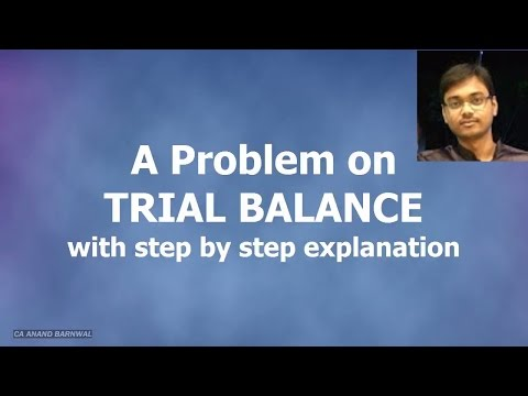 Problem on Trial Balance in Hindi