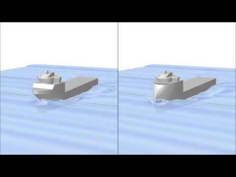 CFD Simulations - comparison of different bow designs