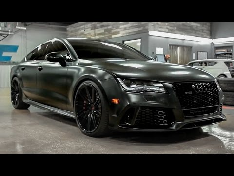 2015 Audi Rs7 Satin Black Wrap And Tons Of Other Mods