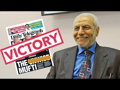 Mufti wins Defamation Case against the Daily Telegraph.