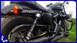 Exhaust Sound comparison: Iron 883 with screaming Eagle Vs. Harley Street 750