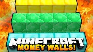 """Minecraft MONEY WALLS #1 """"BEST MINI-GAME EVER!"""" w/ PrestonPlayz"""