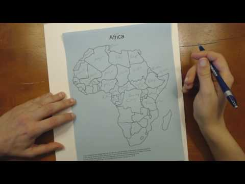Completing an Outline Map - Africa