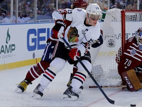 Jonathan Toews upset with late penalty call at Winter Classic