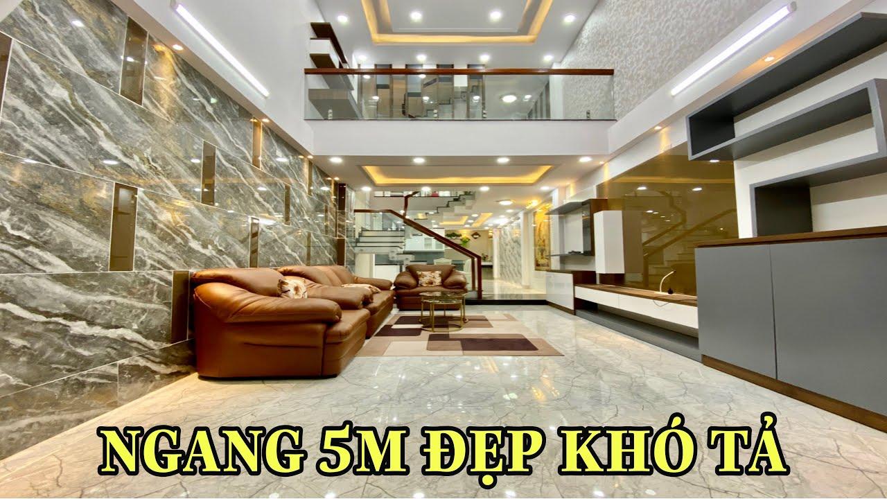 Bán nhà Gò Vấp 791  Nhà Phố rộng 5m Thiết kế 3.5 lầu Chuẩn Đẹp hẻm 1 trục 2 xe hơi tránh nhau giá rẻ