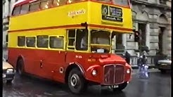 Buses in Scotland-Routemasters in Glasgow 1989