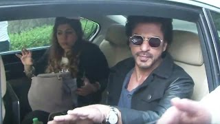 Shahrukh Khan Leaves From Mannat To  Travel Delhi By Train For Raees Promotion