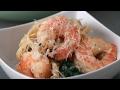 【レシピ】お鍋ひとつで簡単👍 えびとほうれん草のクリームパスタの作り方