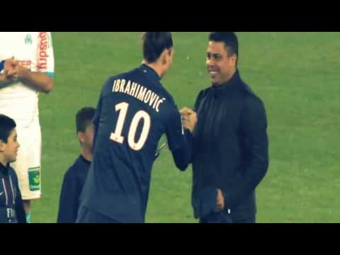 Ronaldo & Zlatan ibrahimovic Starts the game ( PSG vs. Marseille ) 24/02/2013