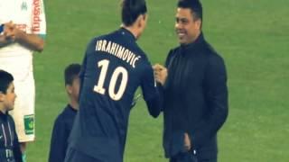 Ronaldo & Zlatan ibrahimovic Starts the game ( PSG vs. Marseille ) 24/02/2013