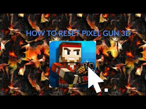 HOW TO RESET YOUR PIXEL GUN 3D GAME