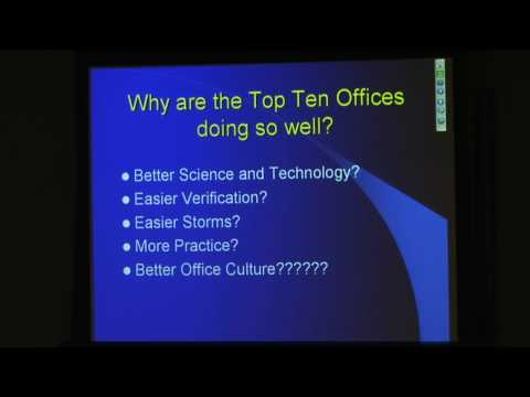 Impact of NWS Weather Forecast Office Culture on Tornado Warning Performance (part 1 of 8)