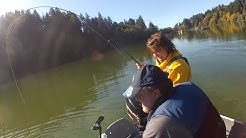 Fishing with Pepper (and friends):  Siltcoos Coho Oct23.