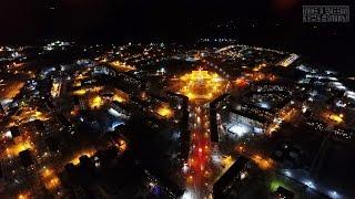 Вид сверху. Ночной порт Ванино