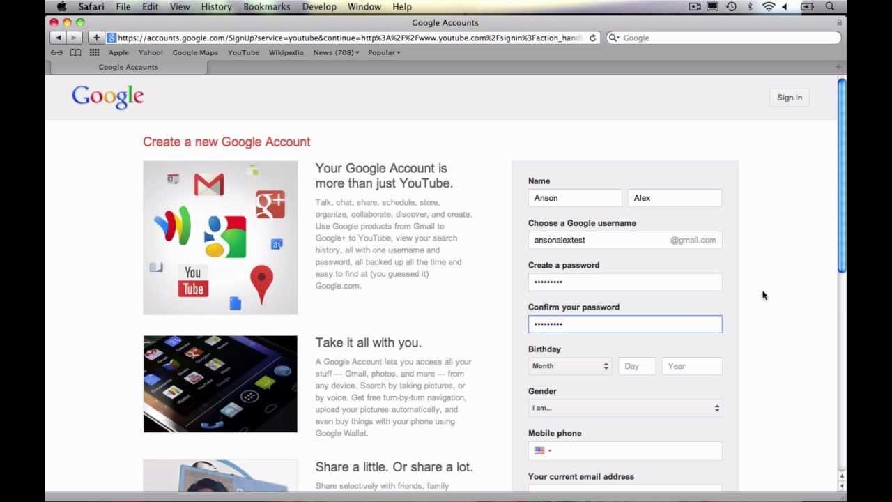 How To Create A Youtube Account 2013 Youtube