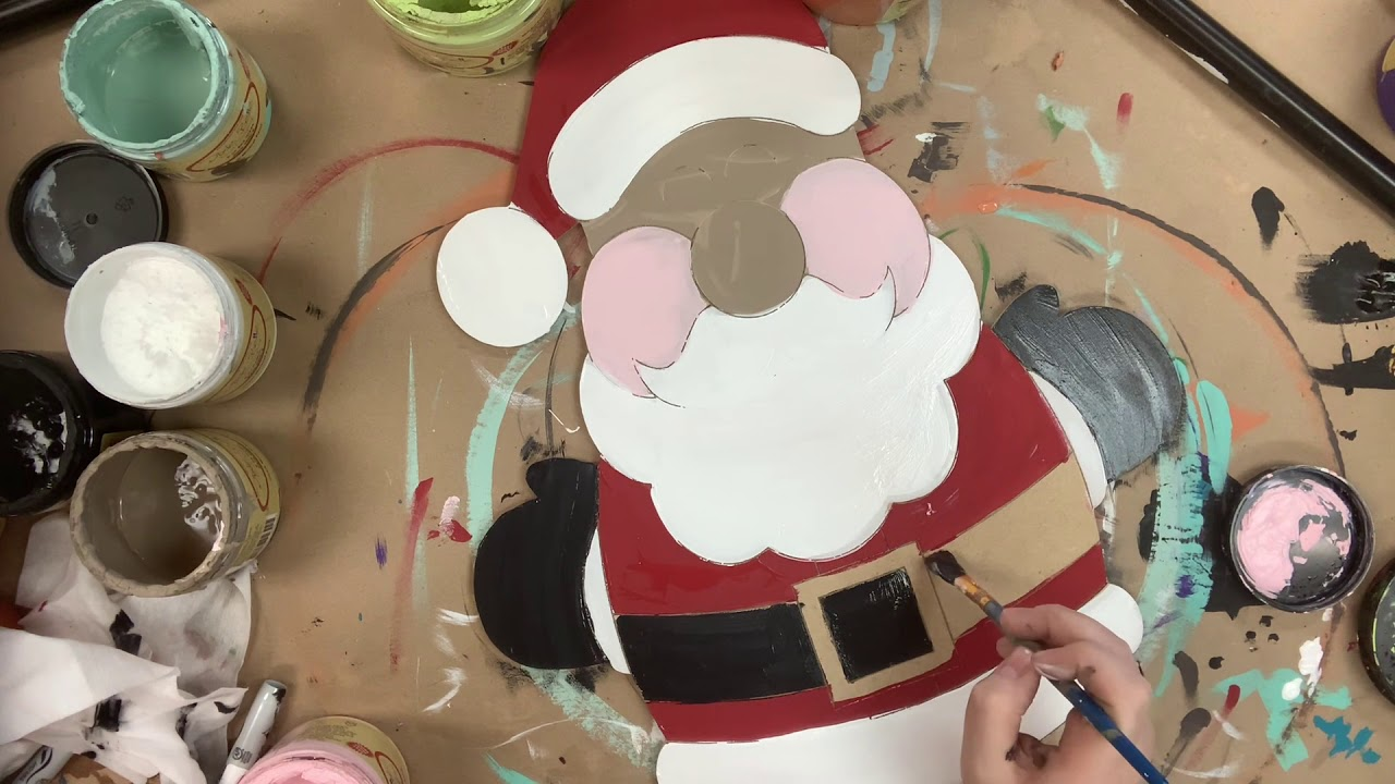 Chubby Santa Christmas Craft Step by Step Video Tutorial