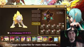 SUMMONERS WAR : Belladeon (Light Inugami) Review and how to rune