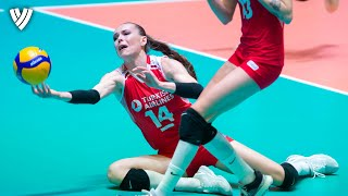 Eda Erdem's GREATEST ACTIONS of Olympic Qualification FINAL! | Highlights Volleyball World