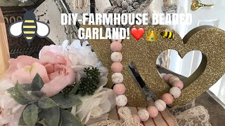 DIY-Farmhouse Beaded Garland