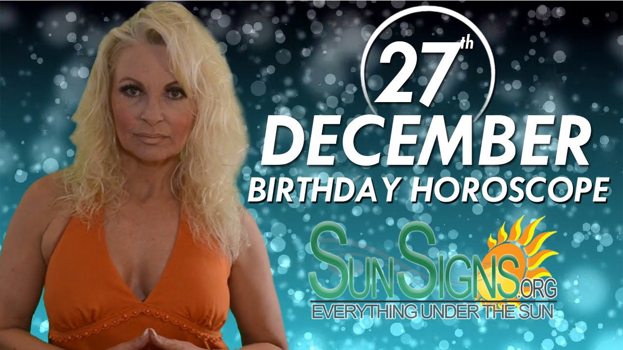 27 december sign horoscope