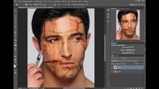 как быстро сделать лицо со шрамом фотошоп cs6