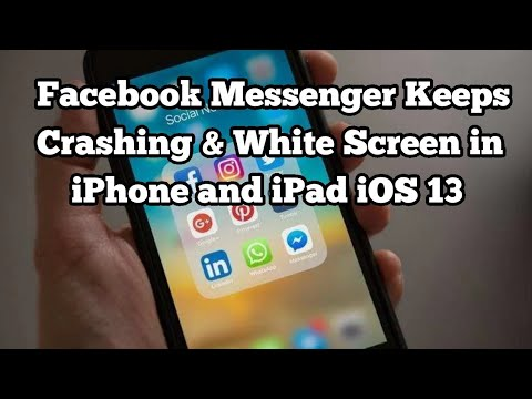 Facebook Messenger App Keeps Crashing And Messenger The Operation Couldn T Be Completed In Ios 13 Youtube