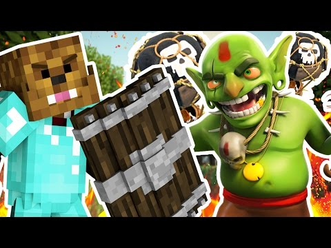 CLASH OF CLANS MEETS MINECRAFT - Minecraft ISLAND CLASH S2 #2