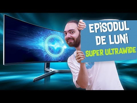 CEL MAI LAT MONITOR gaming din lume - Samsung QLED 49""